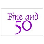 50 50th Birthday Men Women Large Poster