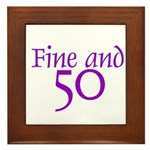 50 50th Birthday Men Women Framed Tile