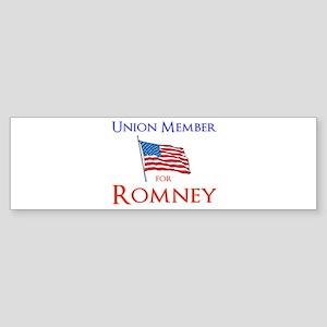 Union Member for Romney Sticker (Bumper)