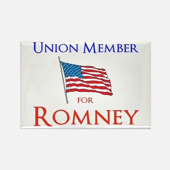Union Member for Romney Rectangle Magnet (10 pack)