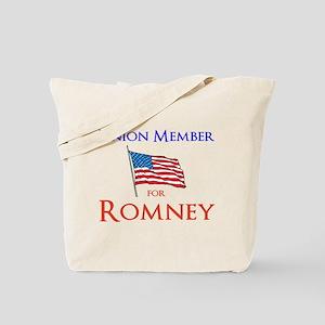 Union Member for Romney Tote Bag
