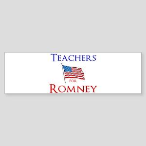 Teachers for Romney Sticker (Bumper)