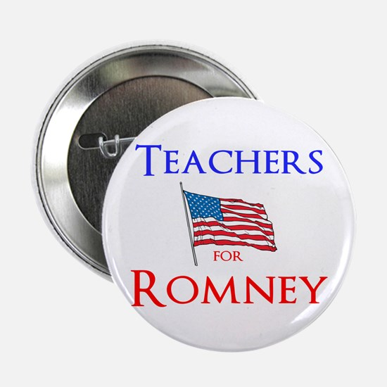 "Teachers for Romney 2.25"" Button"