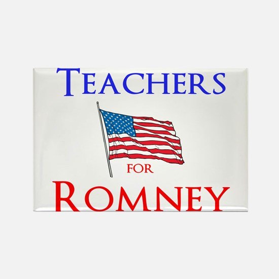 Teachers for Romney Rectangle Magnet (10 pack)