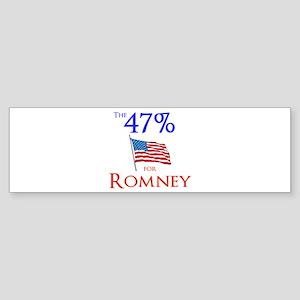 The 47% for Romney Sticker (Bumper)