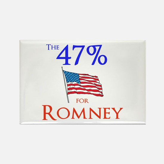 The 47% for Romney Rectangle Magnet (10 pack)