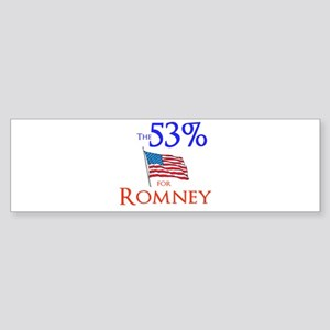 The 53% for Romney Sticker (Bumper)