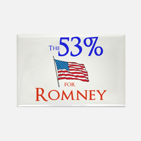 The 53% for Romney Rectangle Magnet (10 pack)