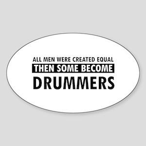 Drummers Designs Sticker (Oval)