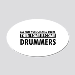 Drummers Designs 20x12 Oval Wall Decal