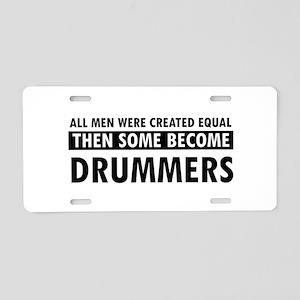 Drummers Designs Aluminum License Plate