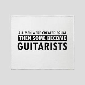 Guitarists Designs Throw Blanket