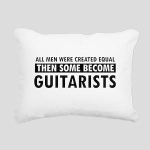 Guitarists Designs Rectangular Canvas Pillow