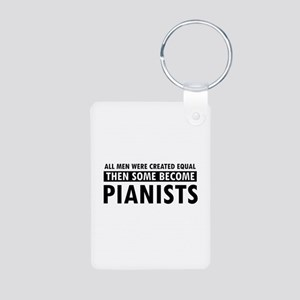 Pianists Designs Aluminum Photo Keychain