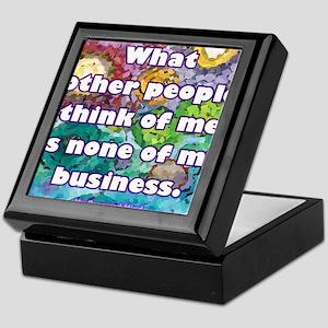 None of my business Keepsake Box