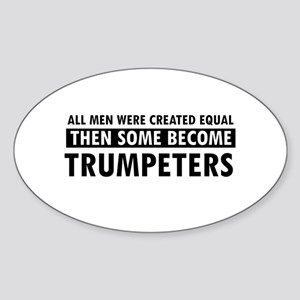 Trumpeters Designs Sticker (Oval)