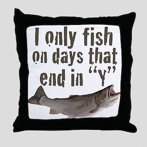 I fish Throw Pillow