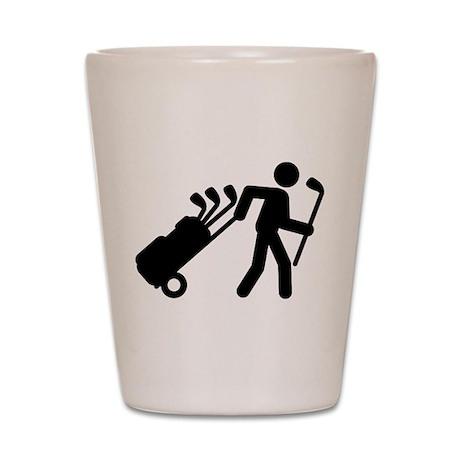Golf Caddy Shot Glass