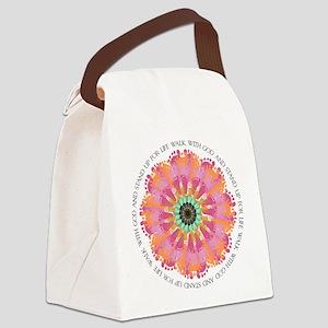 Footprint Flower Canvas Lunch Bag