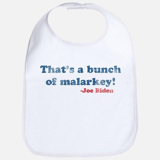 Vintage Joe Biden Malarkey Quote Bib
