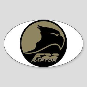 F-22 Raptor Sticker (Oval)