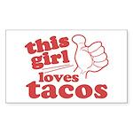 This Girl Loves Tacos Sticker (Rectangle 50 pk)
