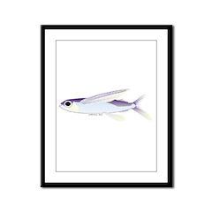 Flying Fish Framed Panel Print