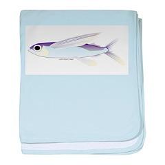 Flying Fish baby blanket