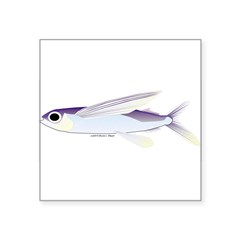 Flying Fish Square Sticker 3