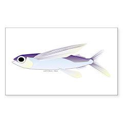Flying Fish Sticker (Rectangle 10 pk)