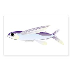 Flying Fish Sticker (Rectangle)