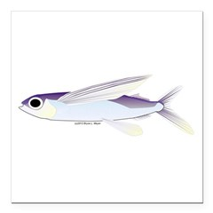 Flying Fish Square Car Magnet 3