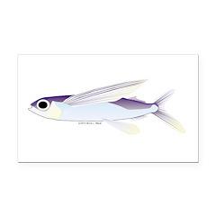 Flying Fish Rectangle Car Magnet