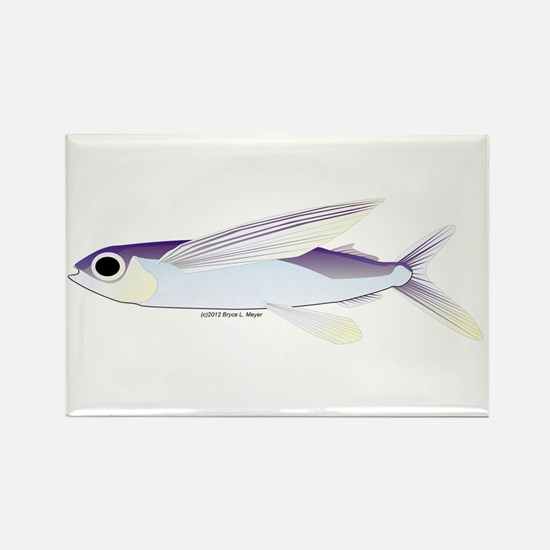 Flying Fish Rectangle Magnet