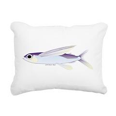 Flying Fish Rectangular Canvas Pillow
