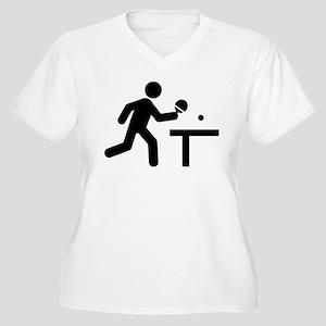 Ping Pong Women's Plus Size V-Neck T-Shirt