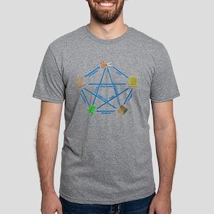 Spock Lizard Mens Tri-blend T-Shirt
