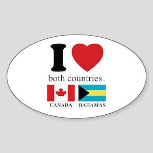 CANADA-BAHAMAS Sticker (Oval)