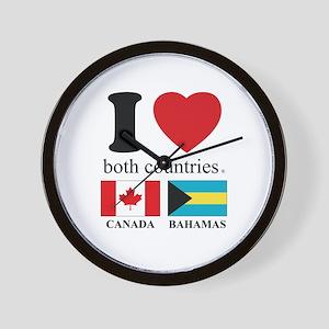 CANADA-BAHAMAS Wall Clock