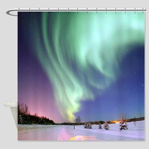 Alaska Aurora Shower Curtain
