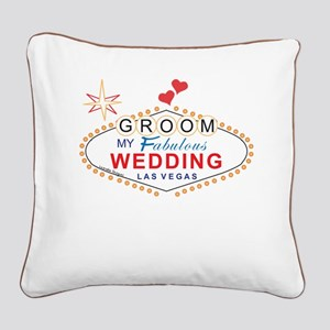 Groom Las Vegas Square Canvas Pillow