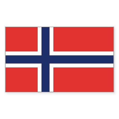 Norway Rectangle Sticker
