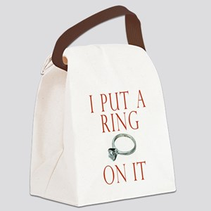 I Put a Ring on It Groom Canvas Lunch Bag