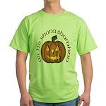 Gaelic Carved Pumpkin Green T-Shirt