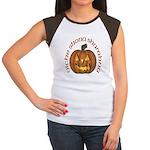 Gaelic Carved Pumpkin Women's Cap Sleeve T-Shirt