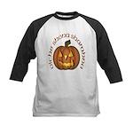 Gaelic Carved Pumpkin Kids Baseball Jersey