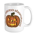 Gaelic Carved Pumpkin Large Mug