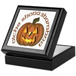Gaelic Carved Pumpkin Keepsake Box