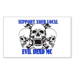 SUPPORT YOUR LOCAL EVIL  Sticker (Rectangle 50 pk)