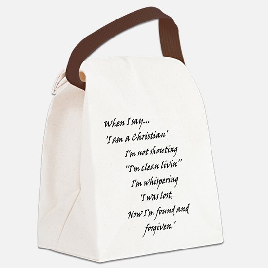 foundNforgiven.jpg Canvas Lunch Bag